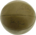 Basketball Collectibles:Balls, 1956 Minneapolis Lakers Team Signed Basketball. Infinitely more scarce than the 1950's team signed baseball are basketballs...