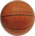 Basketball Collectibles:Balls, 1962 Ohio State Buckeyes Team Signed Basketball with Four Hall ofFamers! Essentially the same team that won it all in 1960...