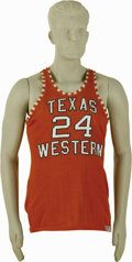 Basketball Collectibles:Uniforms, 1966 Willie Worsley NCAA Championship Game Worn Texas WesternJersey. Only one year earlier, Martin Luther King, Jr.'s marc...