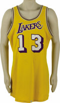 Basketball Collectibles:Uniforms, Early 1970's Wilt Chamberlain Game Worn Jersey. The common themeamong the numbers that make up Wilton N. Chamberlain's Hal...