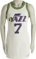 Basketball Collectibles:Uniforms, Late 1970's Pete Maravich Game Worn Jersey. Remembering muchhappier days in the Big Easy is this outstanding gamer from th...