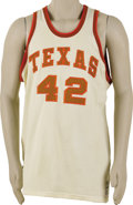 Basketball Collectibles:Uniforms, Early 1980's LaSalle Thompson Game Worn University of Texas Jersey. Before beginning a fifteen-season NBA career with the K...