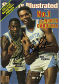 Basketball Collectibles:Others, 1983 Michael Jordan Vintage Signed First Sports Illustrated Cover. The first of forty-seven appearances on the cover of thi...