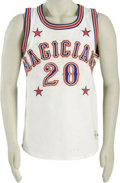 Basketball Collectibles:Uniforms, Late 1980's Marques Haynes Harlem Magicians Game Worn Jersey fromthe Marques Haynes Collection. In 1983, Marques Haynes mo...
