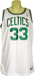 Basketball Collectibles:Uniforms, 1990-91 Larry Bird Game Worn Jersey. Perhaps it's the strong IrishCatholic history of Boston that makes it such a great sp...