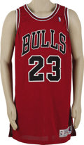 Basketball Collectibles:Uniforms, 1992-93 Michael Jordan Game Worn Jersey. Another Championshipseason gamer from the greatest basketball player that ever li...