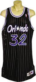 Basketball Collectibles:Uniforms, 1995-96 Shaquille O'Neal Game Worn Jersey. The big man's final yearin Florida before becoming a Laker. This absolutely enor...