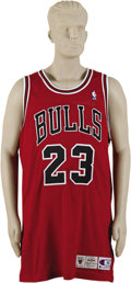 Basketball Collectibles:Uniforms, 1995-96 Michael Jordan Game Worn Jersey. What more can be saidabout Michael Jordan that hasn't already? Not since Babe Ru...