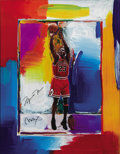 Basketball Collectibles:Photos, Michael Jordan Signed Peter Max Lithograph The acclaimed ...