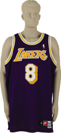 Basketball Collectibles:Uniforms, 1998-99 Kobe Bryant Game Worn Jersey. The calm before the storm, asKobe's Los Angeles Lakers would win three consecutive N...