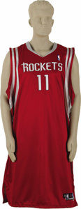 Basketball Collectibles:Uniforms, 2004-05 Yao Ming Game Worn Jersey. Simply gigantic gamer will dragits hem along the ground when worn by a man of average h...