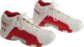 Basketball Collectibles:Uniforms, 2004-05 Yao Ming Game Worn Sneakers. The first overall pick in the2002 draft was the Chinese giant who wore these Reebok h...