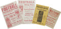 Football Collectibles:Others, 1920's-30's Chicago Bears Football Broadsides Lot of 4. A step back in time to the days of leather helmets and men who play... (Total: 4 Items)