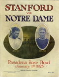 Football Collectibles:Programs, 1925 Rose Bowl Program featuring The Four Horsemen. Presented here is one of the toughest and most desirable football progr...
