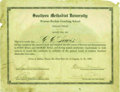 """Football Collectibles:Others, 1929 Knute Rockne & Glenn """"Pop"""" Warner Signed Diploma. Contrary to the old saying, it seems that """"those who can"""" actually do..."""