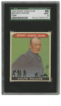 Football Cards:Singles (Pre-1950), 1933 Sport Kings Gum Knute Rockne #35 SGC NM/MT 88. From the mostpopular and beloved multi-sport set in the collecting hob...
