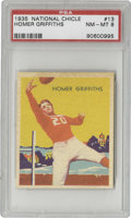 Football Cards:Singles (Pre-1950), 1935 National Chicle Homer Griffiths #13 PSA NM-MT 8. Only three times has a card picturing this standout from USC topped t...