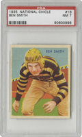 Football Cards:Singles (Pre-1950), 1935 National Chicle Ben Smith #16 PSA NM 7. Amazing image capturesSmith in the bumblebee colors of the Pittsburgh Pirates...