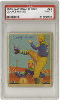 Football Cards:Singles (Pre-1950), 1935 National Chicle Clarke Hinkle #24 PSA NM 7. The Green BayPackers Hall of Fame legend demonstrates his kicking style i...
