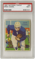 Football Cards:Singles (Pre-1950), 1935 National Chicle Ernie Caddel #30 PSA NM 7. Fantasticcentering, color and registration leave us to wonder if a NM-MT8...