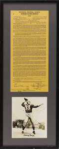 Football Collectibles:Others, 1950 Sammy Baugh Signed Standard Players Contract. From 1937 through 1952, the Washington Redskins found their offensive ho...