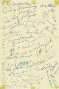 Football Collectibles:Others, 1954 Cleveland Browns Team Signed Sheet. As any knowledgeable football autograph collector will tell you, team signed sheets...