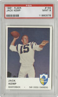 Football Cards:Singles (1960-1969), 1961 Fleer Jack Kemp #155 PSA Mint 9. Kemp, whose football career included such successes two AFL Western Division champion...