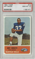 Football Cards:Singles (1960-1969), 1962 Fleer Art Baker #12 PSA Gem Mint 10. The Art Baker card offered here is a true rarity as one of only 12 Gem Mint examp...