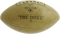 Football Collectibles:Balls, 1965 Green Bay Packers Team Signed Football. After three years of World Championship drought, Vince Lombardi's hardnosed Pa...