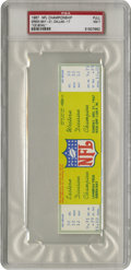 """Football Collectibles:Tickets, 1967 NFL Championship """"The Ice Bowl"""" Game Full Ticket, PSA NM 7. One sane football fan stepped outside his door in Green Ba..."""