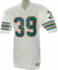 Football Collectibles:Uniforms, 1979 Larry Csonka Game Worn Jersey. Thrilling the fans in Miami who were heartbroken when this member of the glorious undef...