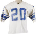 Football Collectibles:Uniforms, 1980 Billy Sims Game Worn Rookie Jersey. In his junior year at the University of Oklahoma, Sims set the Big Eight Conferenc...