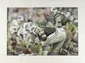 Football Collectibles:Others, Joe Namath Original Watercolor Artwork by Marks. This absolutely exceptional work by noted sports artist Richard Marks coul...