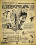 Football Collectibles:Others, Jim Thorpe Signed Original Cartoon Artwork. Fine work recounting the highlights of an amazing athletic career was produced ...
