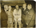 """Football Collectibles:Others, Jim Thorpe Signed Large Photograph. Image measures 11x14"""" in size and pictures Thorpe at a reunion of the Canton Bulldogs F..."""