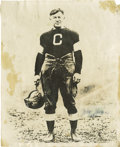 """Football Collectibles:Others, Jim Thorpe Signed Photograph. Classic image of Thorpe in the uniform of the Canton Bulldogs measures 8x10"""" in size and pict..."""