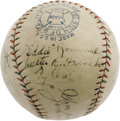 Autographs:Baseballs, 1927 Philadelphia Athletics Team Signed Baseball with Cobb. More stars than the nighttime sky appear on this OAL (Johnson) ...
