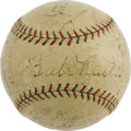 Autographs:Baseballs, 1928 New York Yankees Team Signed Baseball. A second consecutivefour-game Series sweep for the deadly Murderers' Row furth...