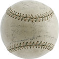 Autographs:Baseballs, 1930 Philadelphia Athletics Team Signed Baseball. This World Championship sphere offers the dreamiest display value possibl...