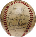 Autographs:Baseballs, 1938 Pittsburgh Pirates Team Signed Baseball with Honus Wagner. The man whose face appears on the hobby's most expensive tr...