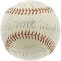 Autographs:Baseballs, 1940 Philadelphia Athletics Team Signed Baseball. Please note thatthe Connie Mack autograph has been deemed secretarial....