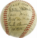 Autographs:Baseballs, 1941 New York Giants Team Signed Baseballs. Six letters spelled out in 10/10 black ink on the side panel of this ONL (Frick...
