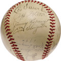 Autographs:Baseballs, 1942 National League All-Star Team Signed Baseball. The followingseason would see the Major League ranks severely depleted...