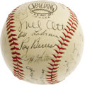 Autographs:Baseballs, 1942 New York Giants Team Signed Baseball. A Mel Ott signature totake your breath away makes this ONL (Frick) ball an inst...