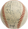 Autographs:Baseballs, 1946 Pittsburgh Pirates Team Signed Baseball with Honus Wagner. Adismal seventh place finish for the Bucs this season can ...