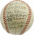 Autographs:Baseballs, 1948 Cleveland Indians Team Signed Baseball. Exceptional high-gradespecimen recalls that glorious season in Cleveland when...