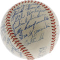 Autographs:Baseballs, 1949 Brooklyn Dodgers Team Signed Baseball. An absolutelybreathtaking specimen from this National League Championshipsqua...