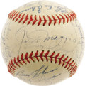 Autographs:Baseballs, 1949 New York Yankees Team Signed Baseball. Despite posting just asingle winning season in eight years of Big League manag...