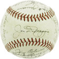 Autographs:Baseballs, 1951 New York Yankees Team Signed Baseball, PSA NM-MT 8. After seeing a 1951 Yankees team sphere graded PSA Mint 9 realize ...