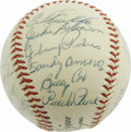 Autographs:Baseballs, 1954 Brooklyn Dodgers Team Signed Baseball. A milky-white wonderfrom the Ebbets Field dugout, where twenty-three Bums appl...